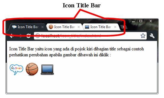 Icon title bar   My Dream of Web